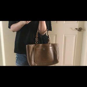 Coach tan tote bag